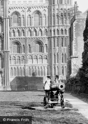 The Cathedral, Firing Russian Cannon 1898, Ely