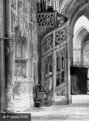 The Cathedral, North Choir Aisle, Organ Stairs  1891, Ely