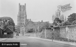 Ely, The Gallery And Cathedral c.1955