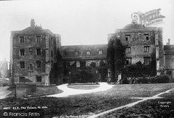 Ely, The Palace 1898