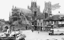 Ely, The Square And Cathedral c.1955