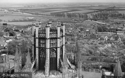 Ely, The View From The West Tower c.1955