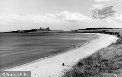 Embleton, The Beach And Castle c.1960