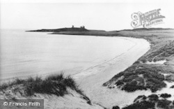 Embleton, The Beach And Dunstanburgh Castle c.1960