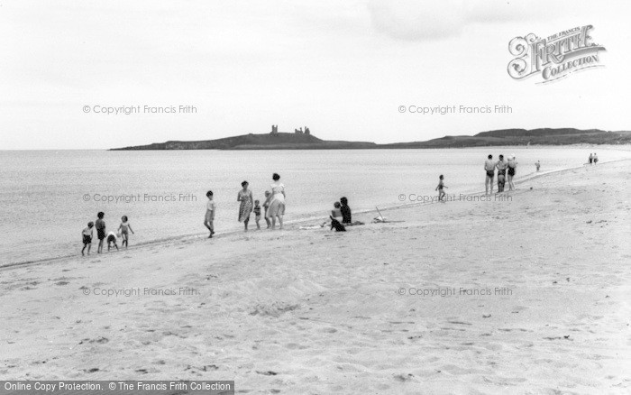 Photo of Embleton, The Beach And Dunstanburgh Castle c.1960