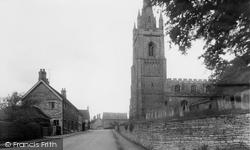 Empingham, St Peter's Church And Church Street c.1960