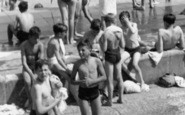 Enfield, Bathers At The Open Air Swimming Pool c.1955