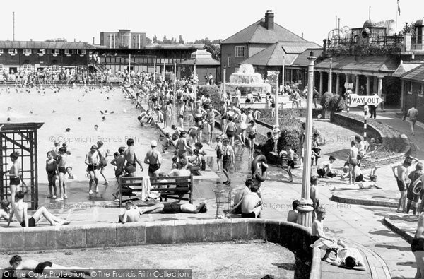 Photo of Enfield, The Open Air Swimming Pool c.1955