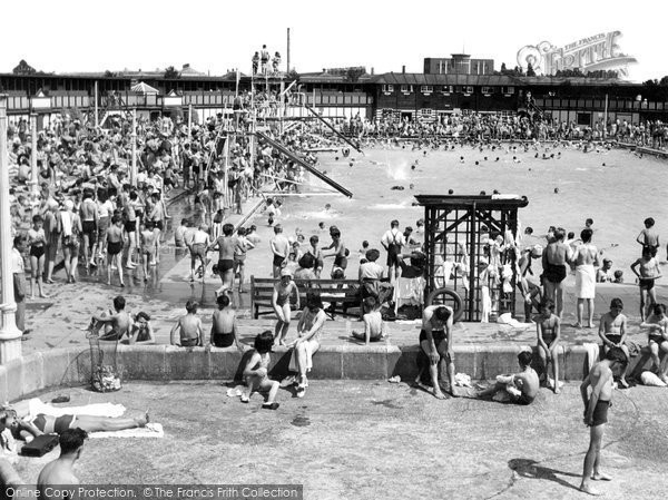 Enfield the open air swimming pool francis frith - Southbury swimming pool contact number ...