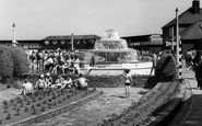 Enfield, The Open Air Swimming Pool Cascade c.1955