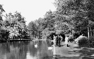 Enfield, Whitewebbs Park, The Pond c.1955