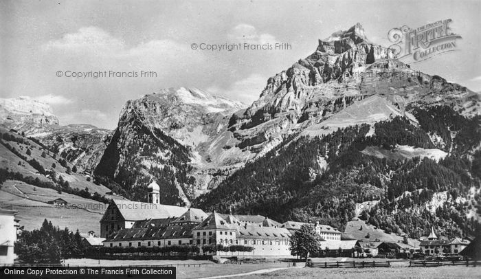 Photo of Engelberg, Monastery And Hahnen c.1935