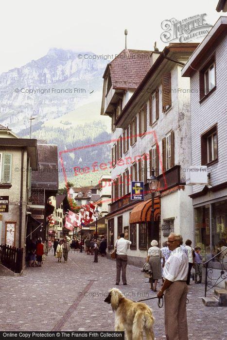 Photo of Engelberg, Shopping Street 1983