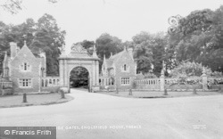 Englefield, Englefield House, The Lodge Gates c.1955