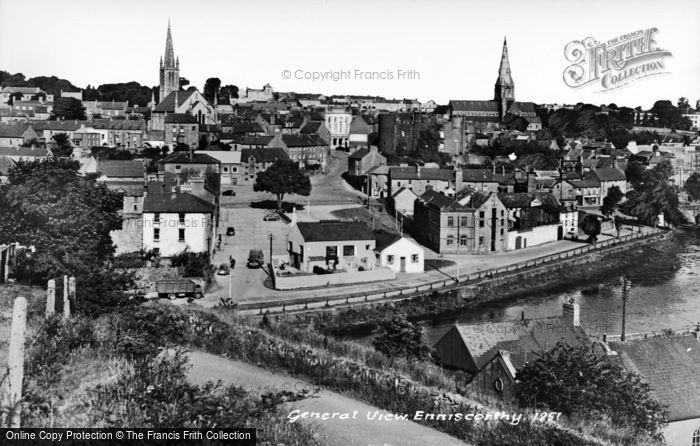 Photo of Enniscorthy, General View c.1950