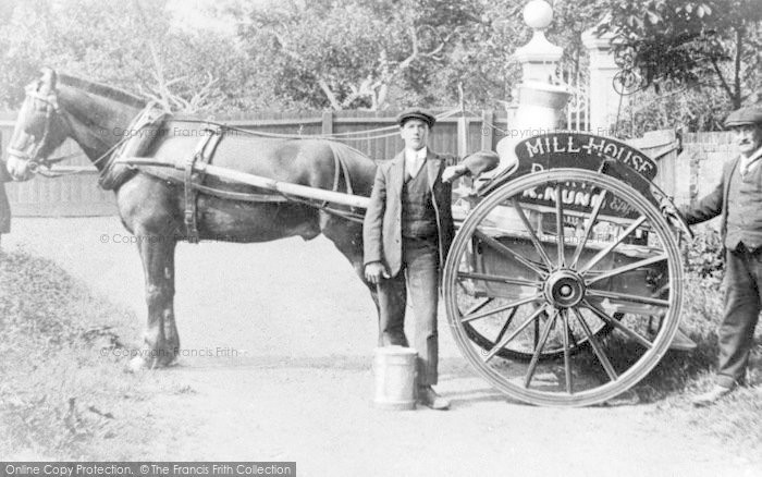 Photo of Epping, Nunn's Dairy Cart c.1900
