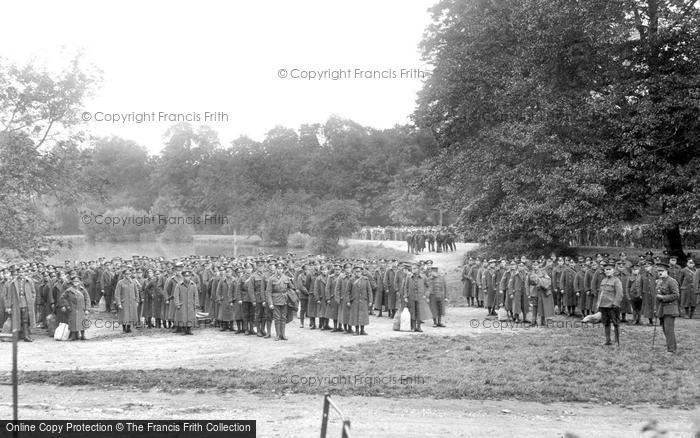 Photo of Epsom, Evacuation Parade, Woodcote Park 1917, ref. 68018