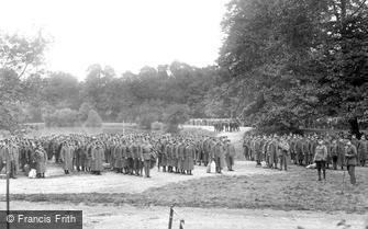 Epsom, Evacuation Parade, Woodcote Park 1917