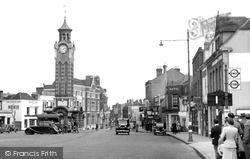 Epsom, High Street And Clock Tower c.1955
