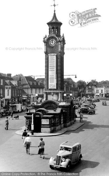 Photo of Epsom, High Street c1955, ref. E37049