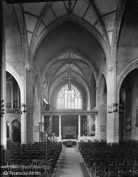 Epsom, St Martin's Church Interior 1923