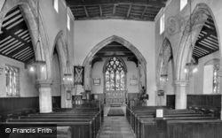 St Andrew's Church, Interior c.1950, Epworth