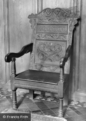 Susanna Wesley's Chair, The Old Rectory c.1950, Epworth