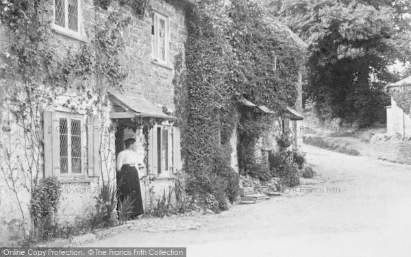 Photo of Ermington, Rectory Cottages And Town Hill 1903
