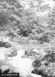 Esgairgeiliog, The Waterfall, Pont Evans c.1955