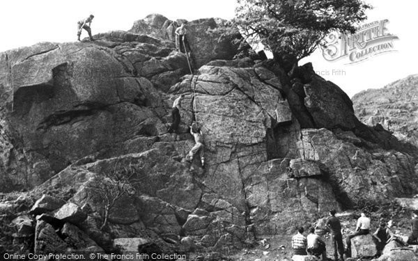 Eskdale Green, Climbing Gate House Crag, Outward Bound Mountain School c.1955