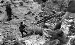 Mountain Rescue Practice, Outward Bound Mountain School c.1955, Eskdale Green