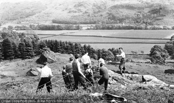 Photo of Eskdale Green, Mountain Rescue Team, Outward Bound Mountain School c1955