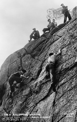 Rock Climbing Instruction, Outward Bound Mountain School c.1955, Eskdale Green