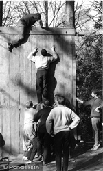 The Wall And Beam Test, Outward Bound Mountain School c.1955, Eskdale Green