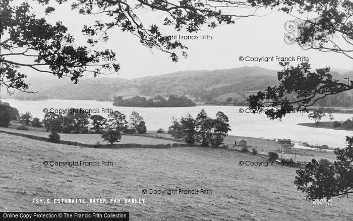 Photo of Esthwaite Water, The Lake c.1955