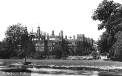 Eton, College From The River Thames 1895
