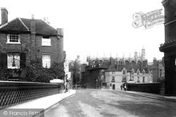 Eton, From Barne's Pool Bridge 1895