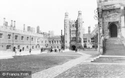 Eton, School Yard, Eton College c.1955