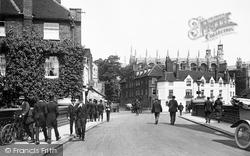 Eton, The College Chapel From Barnes Pool Bridge 1914