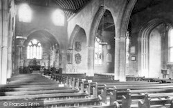 Evesham, All Saints Church Interior 1892