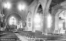All Saints Church Interior 1901, Evesham