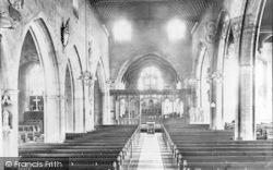 All Saints Church Interior 1910, Evesham