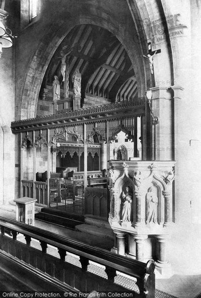 Photo of Evesham, All Saints Church Interior 1910