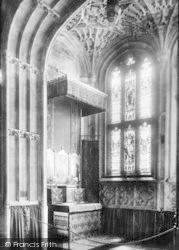 All Saints Church Interior, Lichfield Chapel 1901, Evesham