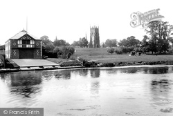 Bell Tower From The Avon 1892, Evesham