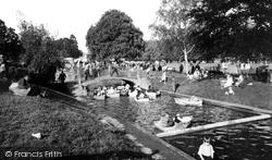 Children's Boating Pool, Abbey Park c.1955, Evesham