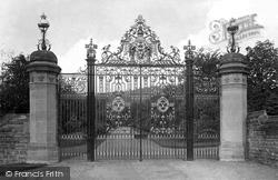 Entrance Gates, Wood Norton (Hrh The Duc D'orleans) 1910, Evesham