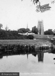 Evesham, From The River 1901