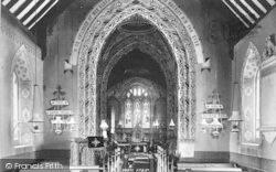 Hampton, St Andrew's Church Interior 1895, Evesham