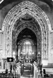 Evesham, Hampton, St Andrew's Church Interior 1895